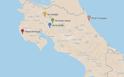 Recorrido Costa Rica
