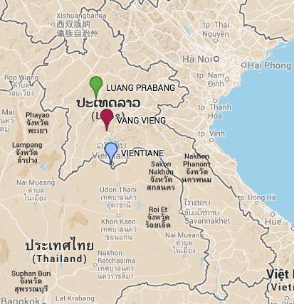 mapa laos